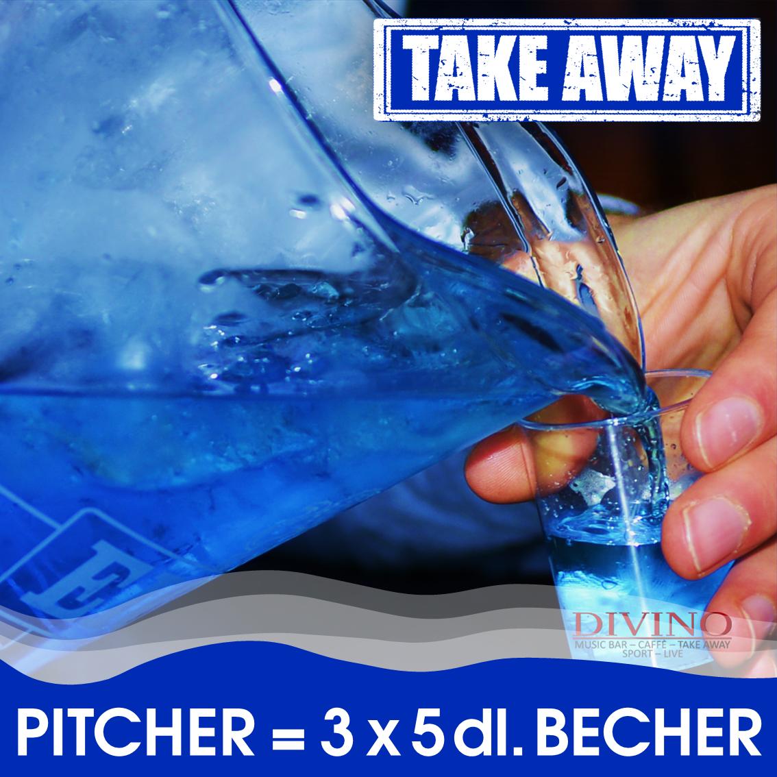 Take Away KEIN Pitcher ABER 3 x 5 dl. Becher