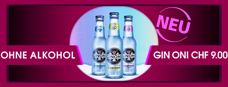 NEUHEIT - Gin Tonic ohne Alkohol mit einem Hauch Fruchtaroma - GIN ONI 20 cl. CHF 9.00