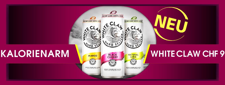 NEUHEIT - Hard Seltzer mit sehr wenig Kalorien, 5% Alkohol und Fruchtaroma - WHITE CLAW 33 cl. CHF 9.00