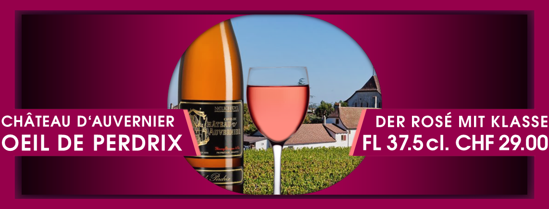 Top Rosé in 3.75 dl Flasche 29 Fr. / Mitnahmepreis 20 Fr.